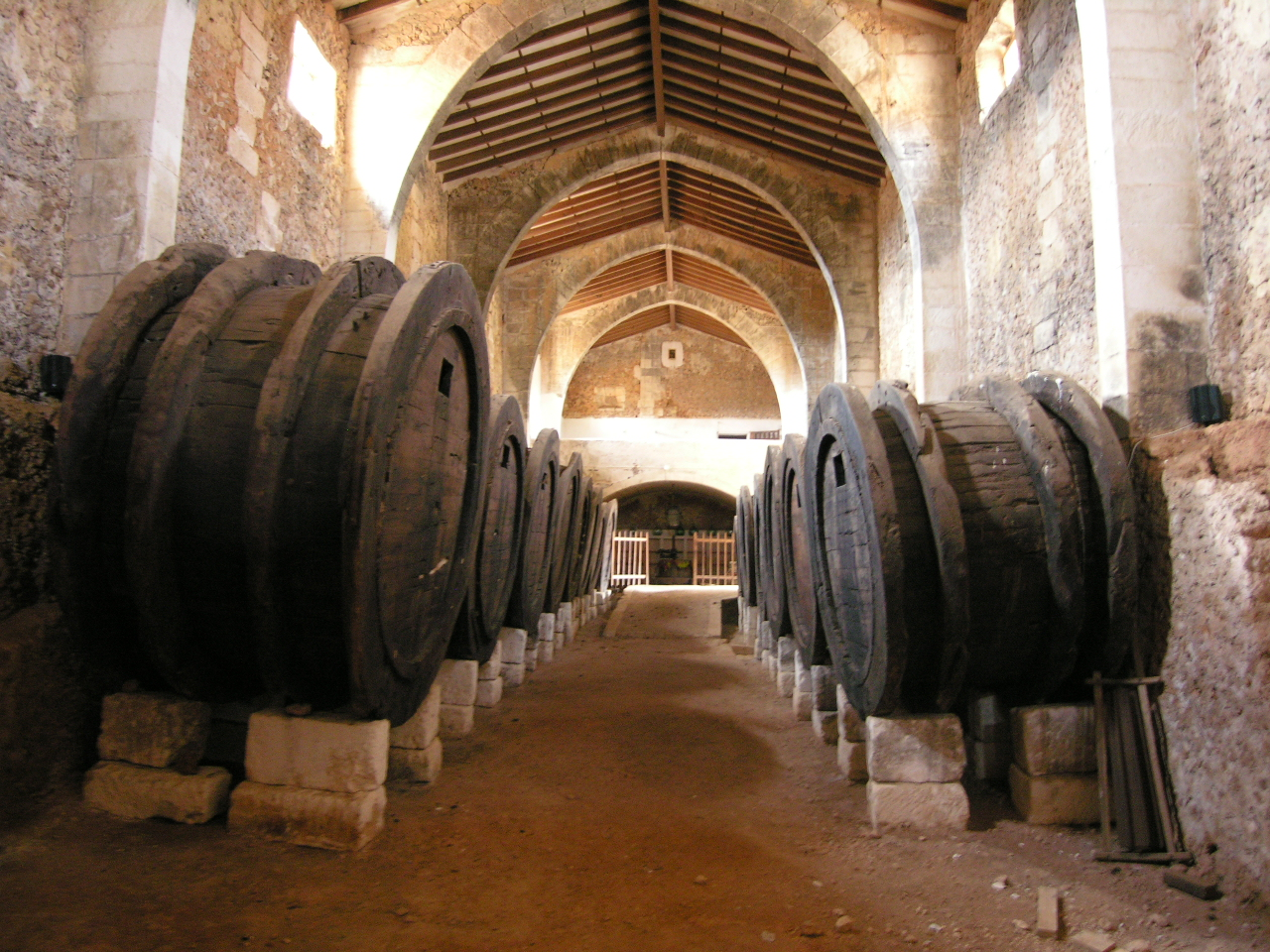 Interior del  celler de Son Ramon (Llubí)